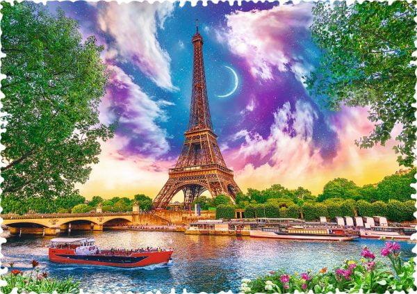 Crazy Shapes - Sky Over Paris 600 Piece Jigsaw Puzzle - Trefl