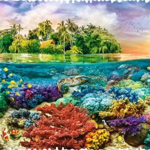Crazy Shapes - Tropical Island 600 Piece Jigsaw Puzzle - Trefl