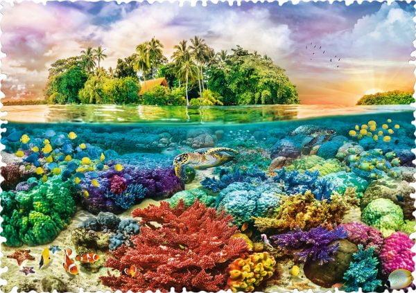 Crazy Shapes - Tropical Island 600 Piece Jigsaw Puzzle - Trefl