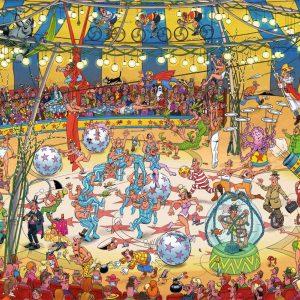 Jan Van Haasteren - Acrobat Circus 1000 Piece Jigsaw Puzzle - Jumbo