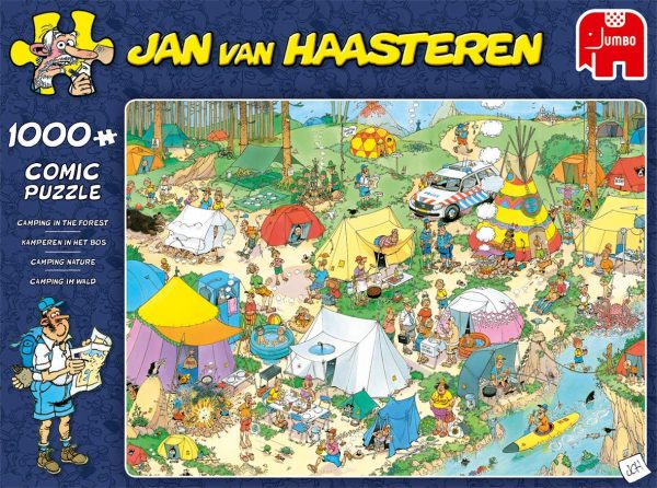 Jan Van Haasteren - Camping in the Forest 1000 Piece Jigsaw Puzzle - Jumbo