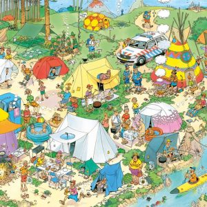 Jan Van Haasteren - Camping in the Forest 2000 Piece Jigsaw Puzzle - Jumbo