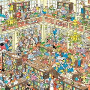 Jan Van Haasteren - The Library 1000 Piece Jigsaw Puzzle - Jumbo