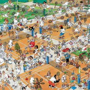 Jan Van Haasteren - The Tennis Court 1000 Piece Jigsaw Puzzle - Jumbo