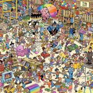 Jan Van Haasteren - The Toy Shop 1000 Piece Jigsaw Puzzle - Jumbo