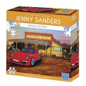 Jenny Sanders - A Porsche in the Outback 1000 Piece Jigsaw Puzzle - Blue Opal