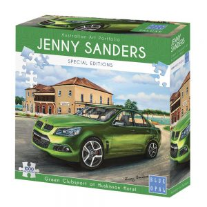 Jenny Sanders - Green Clubsport at Huskisson Hotel 1000 Piece Jigsaw Puzzle - Blue Opal