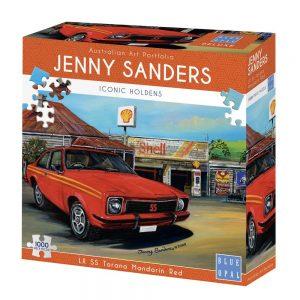 Jenny Sanders LX SS Torana Mandarin Red 1000 Piece Jigsaw Puzzle - Blue Opal