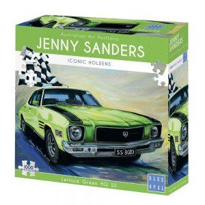 Jenny Sanders - Lettuce Green HQ SS 1000 Piece Jigsaw Puzzle - Blue Opal