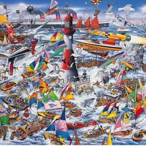 Mike Jupp - I Love Boats 1000 Piece Jigsaw Puzzle - Gibsons
