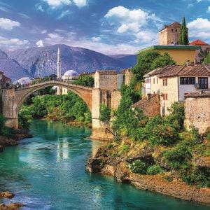 Old Bridge in Mostar, Bosnia 500 Piece Jigsaw Puzzle - Trefl