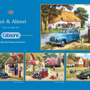Out & About 4 x 500 Piece Jigsaw Puzzle - Gibsons