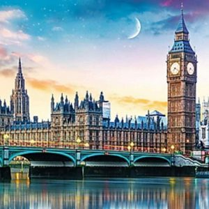 Panorama - Big Ben and Palace of Westminster, London 500 Piece Jigsaw Puzzle - Trefl