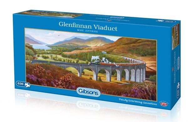 Panorama - Glenfinna Viaduct 636 Piece Jigsaw Puzzle - Gibsons