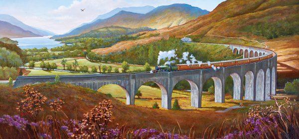 Panorama - Glenfinnan Viaduct 636 Piece Jigsaw Puzzle - Gibsons