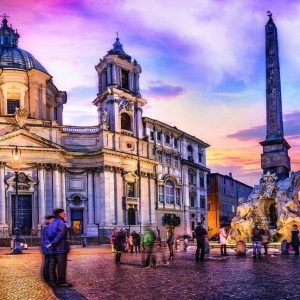 Panorama - Piazza Navona Rome 500 Piece Jigsaw Puzzle - Trefl