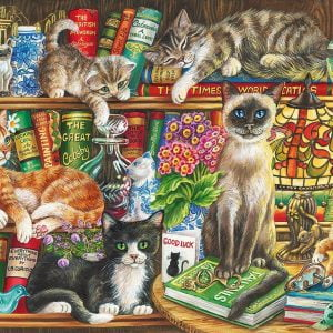 Puss in Books 1000 Piece Jigsaw Puzzle - Gibsons