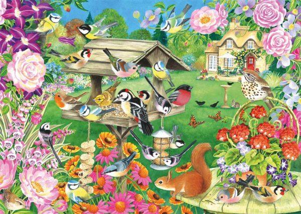Summer Garden Birds 500 Piece Jigsaw Puzzle - Falcon de luxe