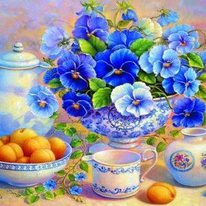 The Blue Bouquet 1000 Piece Jigsaw Puzzle - Trefl