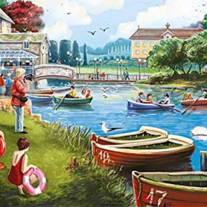The Boating Lake 1000 Piece Jigsaw Puzzle - Falcon de Luxe