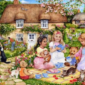 The English Village - A Picnic for Bears 500 XL Piece Jigsaw Puzzle - Holdson