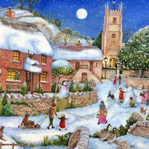 The English Village - Starry Night 500 XL Piece Jigsaw Puzzle - Holdson