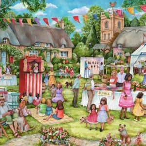 The English Village - Summer Fete 500 XL Piece Jigsaw Puzzle - Holdso