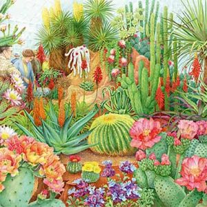 The Flower Show - Desert Plants 1000 Piece Jigsaw Puzzle - Falcon de Luxe