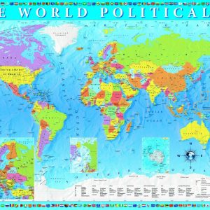 The World Political Map 2000 Piece Jigsaw Puzle - Trefl