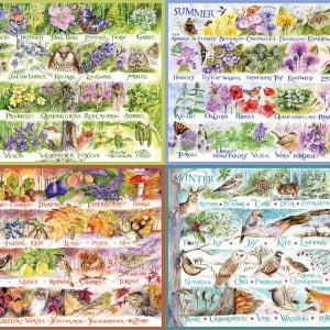Woodland Seasons 2000 Piece Jigsaw Puzzle - Gibsons