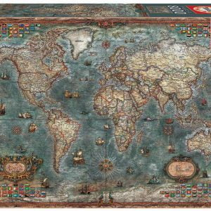 Historical World Map 8000 Piece Jigsaw Puzzle - Educa