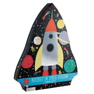 Rocket in Space 40 Piece Jigsaw Puzzle - Floss & Rock