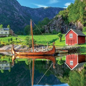 Viking Ship 1500 Piece Jigsaw Puzzle - Educa