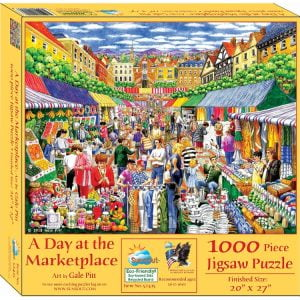 A Day at the Marketplace 1000 Piece Jigsaw Puzzle - Sunsout