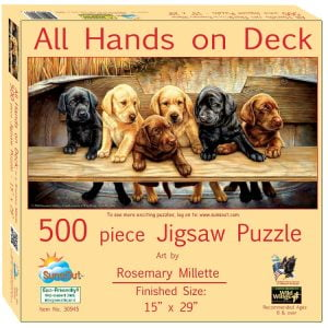 All Hands on Deck 500 Piece Jigsaw Puzzle - Sunsout
