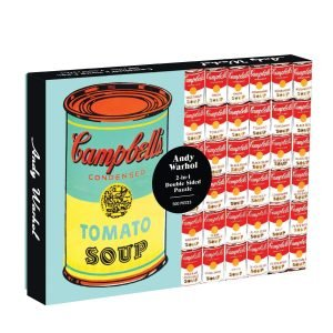 Andy Warhol Soup Cans 2-Sided 500 Piece Jigsaw Puzzle - Galison
