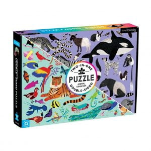 Animal Kingdom 100 Piece Double Sided Jigsaw Puzzle - Mudpuppy