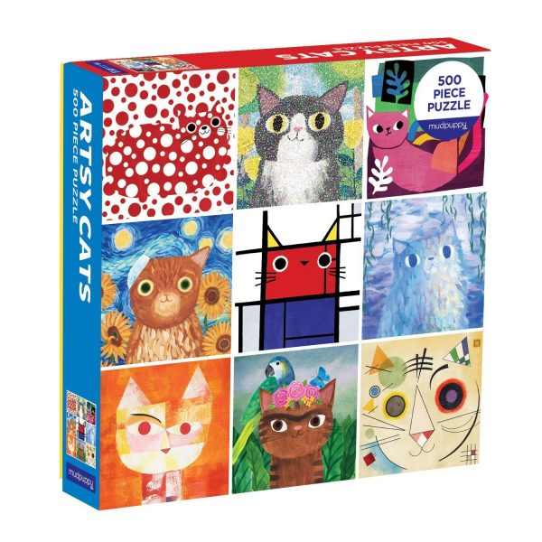 Artsy Cats 500 Piece Jigsaw Puzzle - Mudpuppy