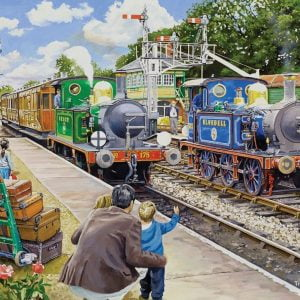 At The Station - Horsted Keynes on the Bluebell Railway 500 XL Piece Jigsaw Puzzle - Holdson