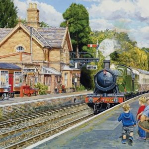 At the Station - Hampton Loade on the Severn Valley Railway 500 XL Piece Jigsaw Puzzle - Holdson