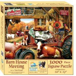 Barnhouse Meeting 1000 Piece Jigsaw Puzzle - Sunsout