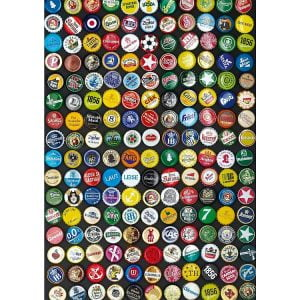 Beer Bottle Caps 1000 Piece Jigsaw Puzzle - Piatnik