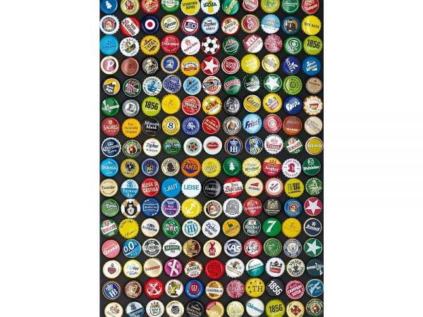 Beer Bottle Caps 1000 Piece Jigsaw Puzzle - Piatnik