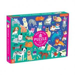 Cats & Dogs 100 Piece Double-Sided Jigsaw Puzzle - Mudpuppy