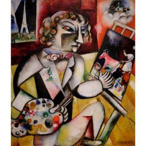 Chagall, 7 Fingers 1000 Piece Jigsaw Puzzle - Piatnik