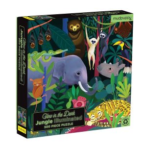 Glow in the Dark - Jungle Illuminated 500 Piece Puzzle - Mudpuppy