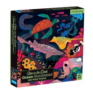 Glow in the Dark - Ocean Illuminated 500 Piece Puzzle - Mudpuppy