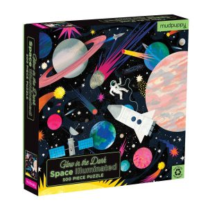 Glow in the Dark Space Illuminated 500 Piece Jigsaw Puzzle - Mudpuppy