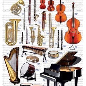 Instruments of the Orchestra 1000 Piece Jigsaw Puzzle - Eurographics