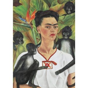 Kahlo Self-Portrait with Monkeys 1000 Piece Jigsaw Puzzle - Piatnik